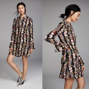 Equipment Daphne Floral Silk Shirt Dress S